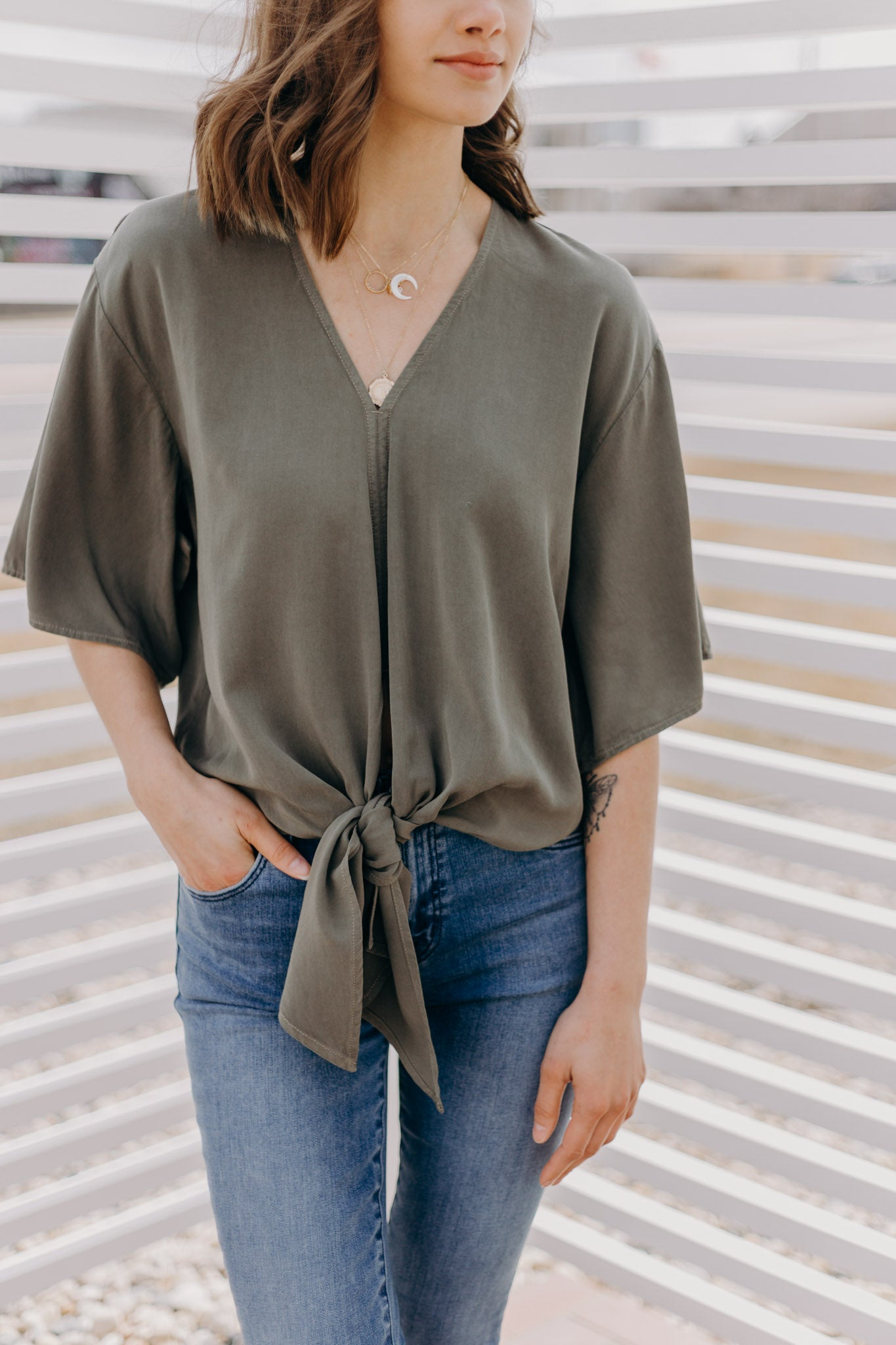 Havana Top with Tie Front
