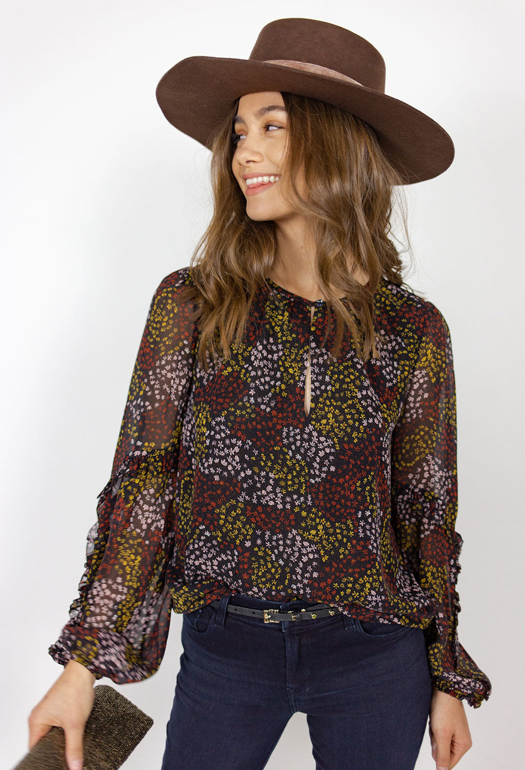 Joie Baltasar Midnight Floral Top