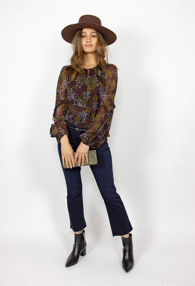 Joie Baltasar Midnight Floral Top - RUST & Co.