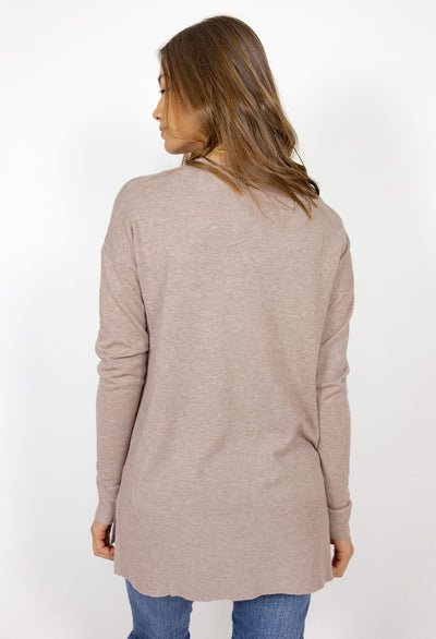 Boat Neck, Drop Shoulder, Center Seam Sweater - RUST & Co.