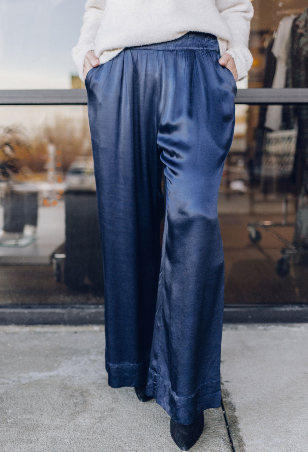 Nation Pico Wide Leg Satin Pant