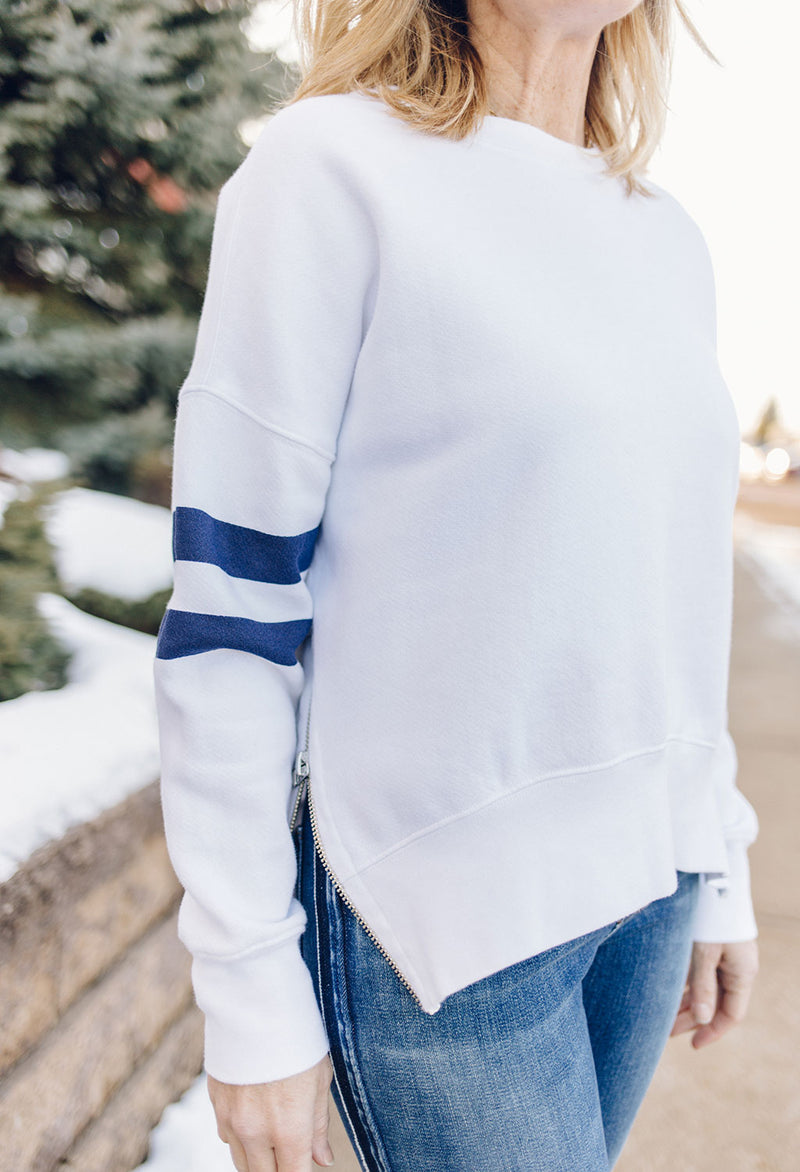 Sundry Side Zip Crew Sweatshirt