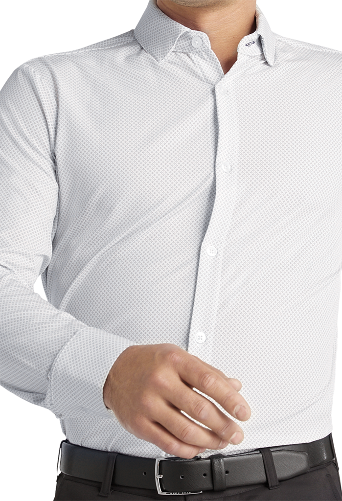 Mizzen + Main Leeward Shirt, White Geo Dot