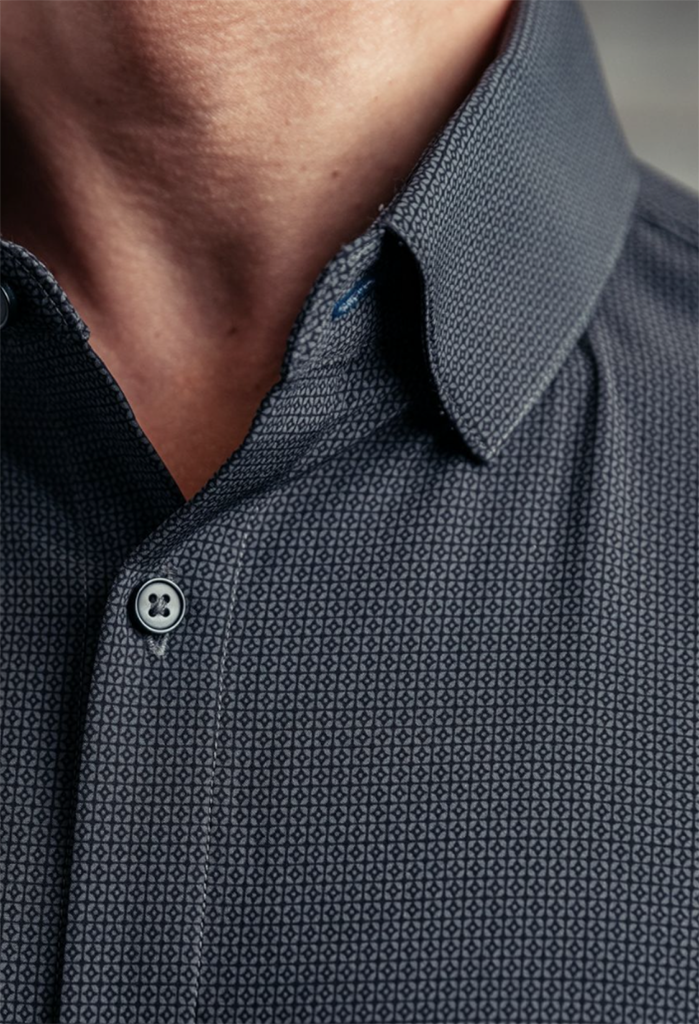 Mizzen + Main Leeward Shirt, Grey Diamond Geo