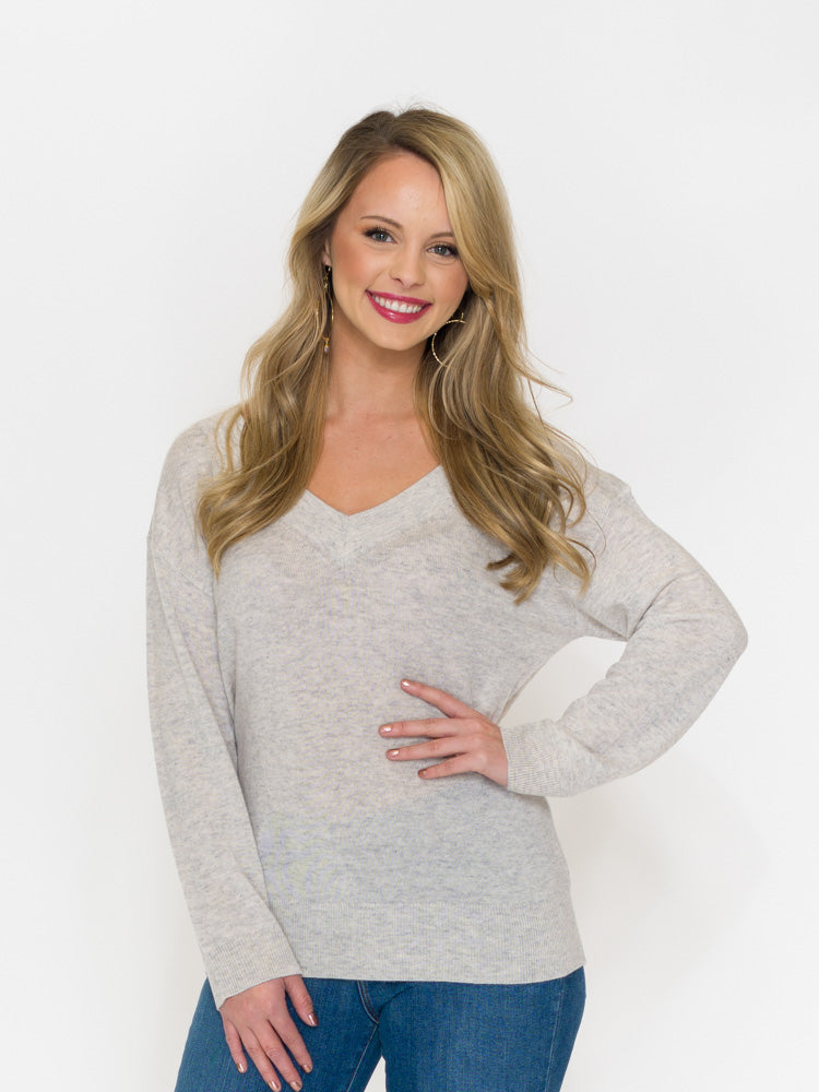 Merino/Cashmere V-Neck Sweater