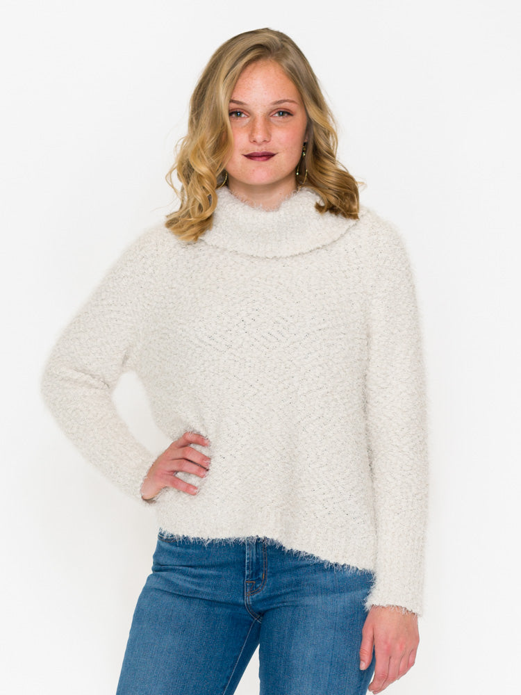Cupcakes & Cashmere Grover Fluffy Cowl Neck Sweater - RUST & Co.