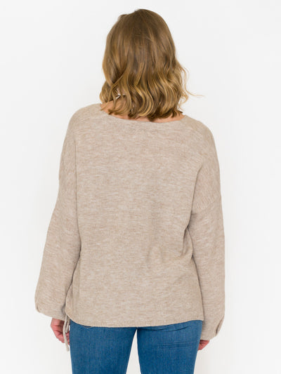 Pauline Side Tie Sweater - RUST & Co.