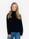 Merino/Cashmere Turtle Neck Rib Sweater - RUST & Co.