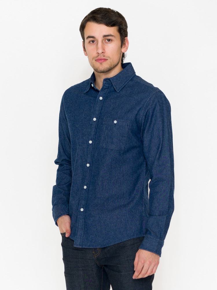 Normal Brand Brushed Indigo Twill