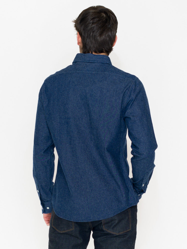 Normal Brand Brushed Indigo Twill - RUST & Co.