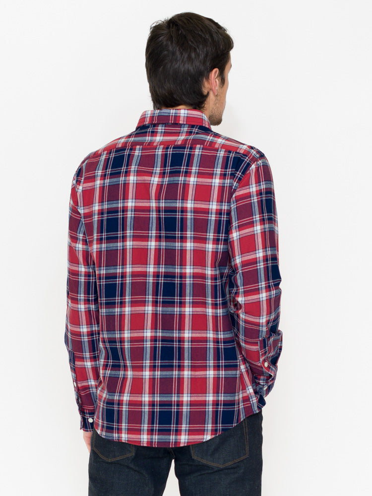 Normal Brand Leland Indigo Twill Plaid