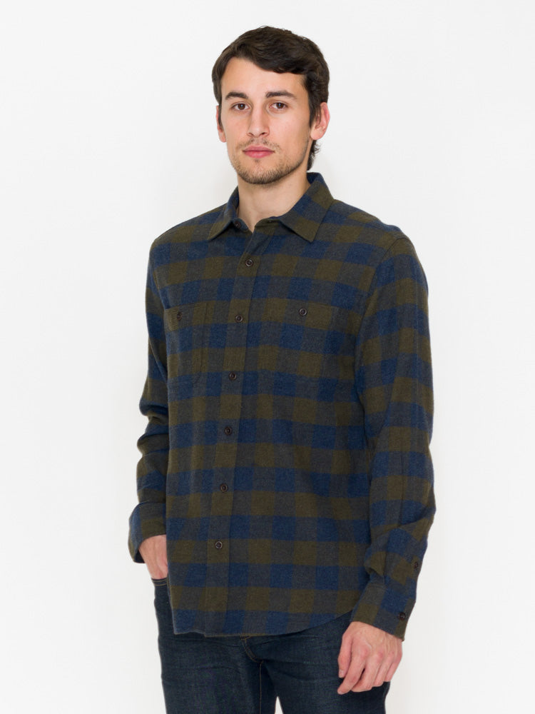 Faherty Seasons Shirt Brushed Twill Flannel - RUST & Co.