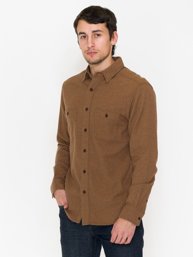 Faherty Brushed Alpine Flannel Button Front