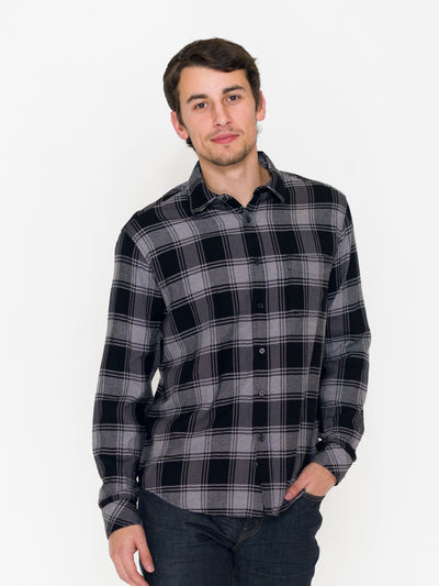 Rails Lennox Plaid Shirt, Black - RUST & Co.