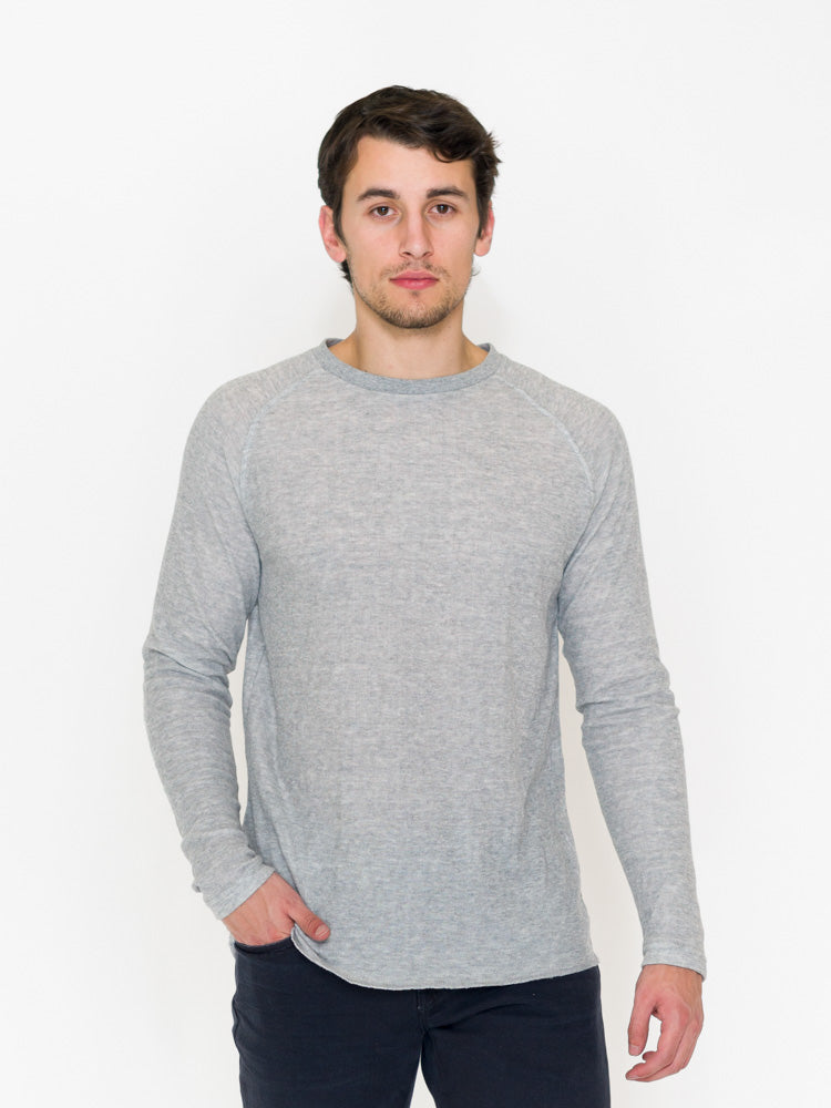 Raglan Sleeve Double Knit Crew