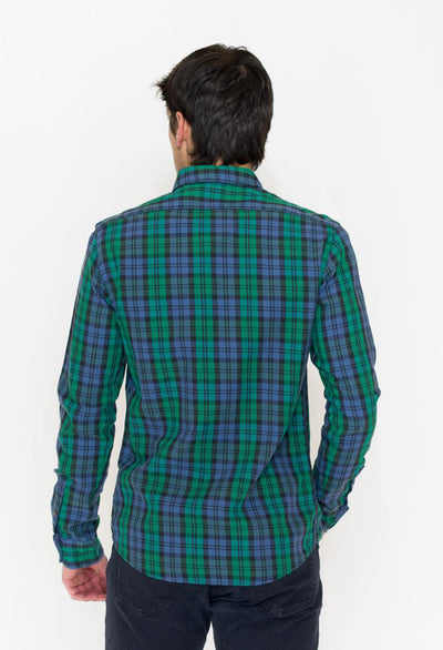 Scotch & Soda Classic Check Flannel, Navy/Green - RUST & Co.