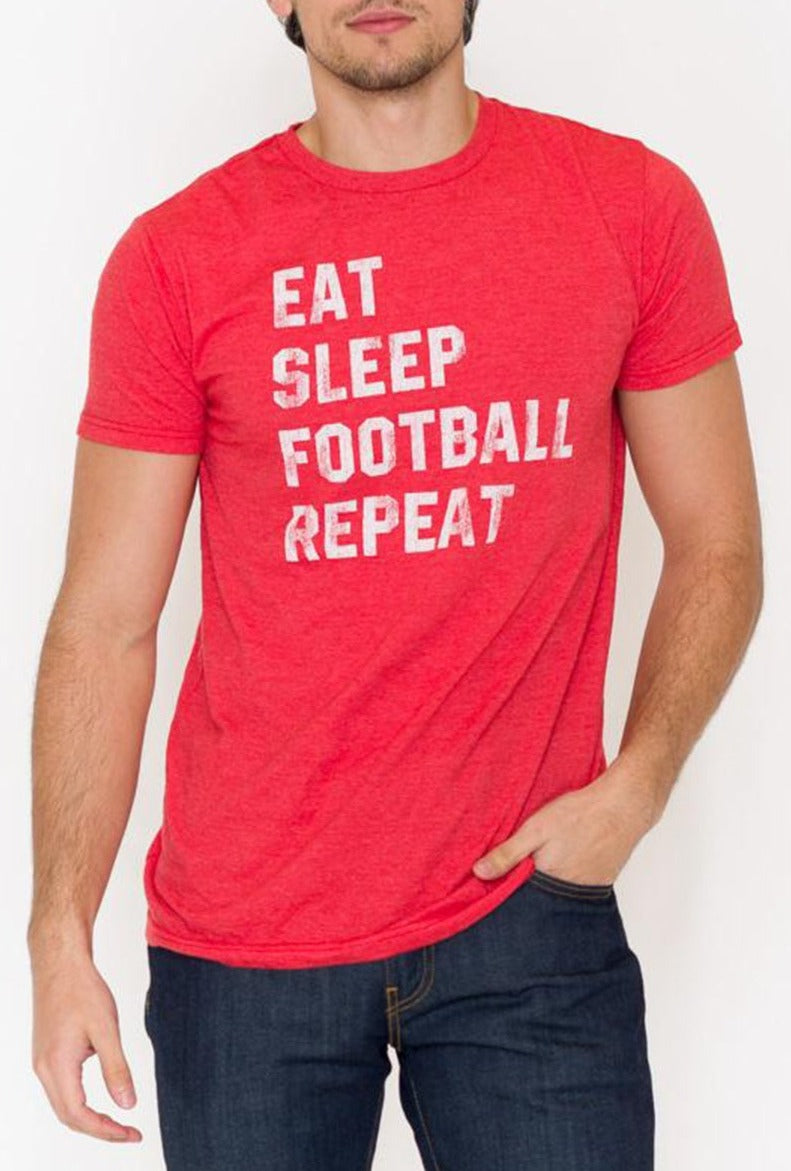 Eat Sleep Football Graphic Tee - RUST & Co.