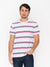 Levi's short sleeve set-in Mission T-shirt, Blue/Red Stripe