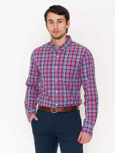 Bonobos Wellbeck Plaid Washed Button Down - RUST & Co.