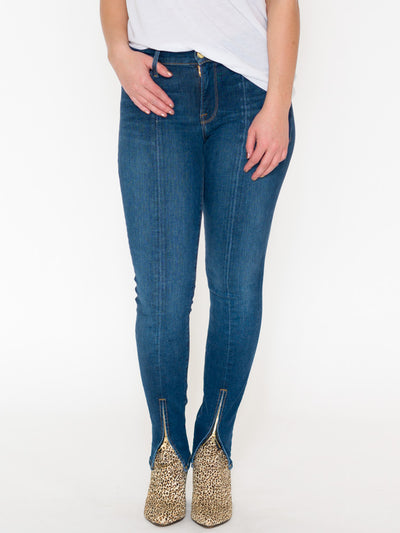 Frame Le Skinny Front Ankle Zip Jeans - RUST & Co.