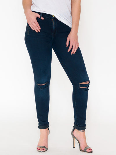 Frame Le High Distressed Skinny Jeans - RUST & Co.