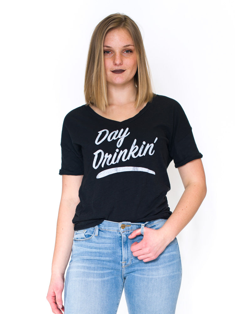 Day Drinkin' V-Neck Tee - RUST & Co.