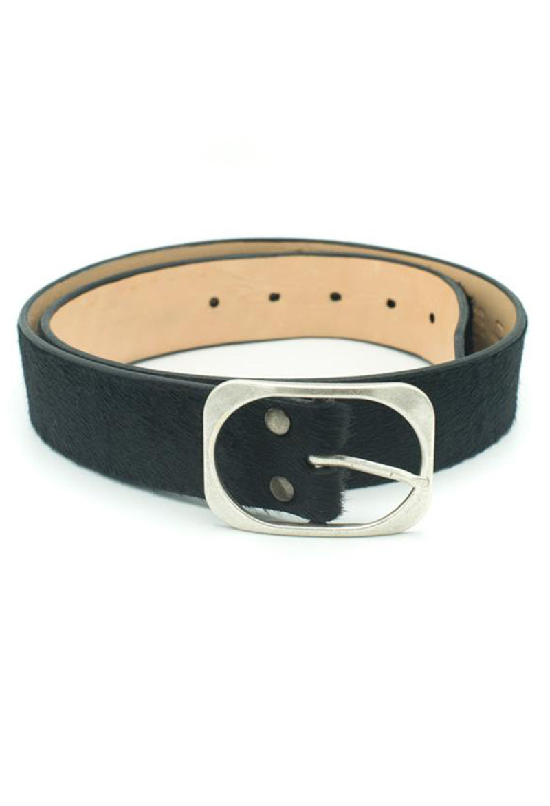 Dona Black Hair On Hide Belt - RUST & Co.