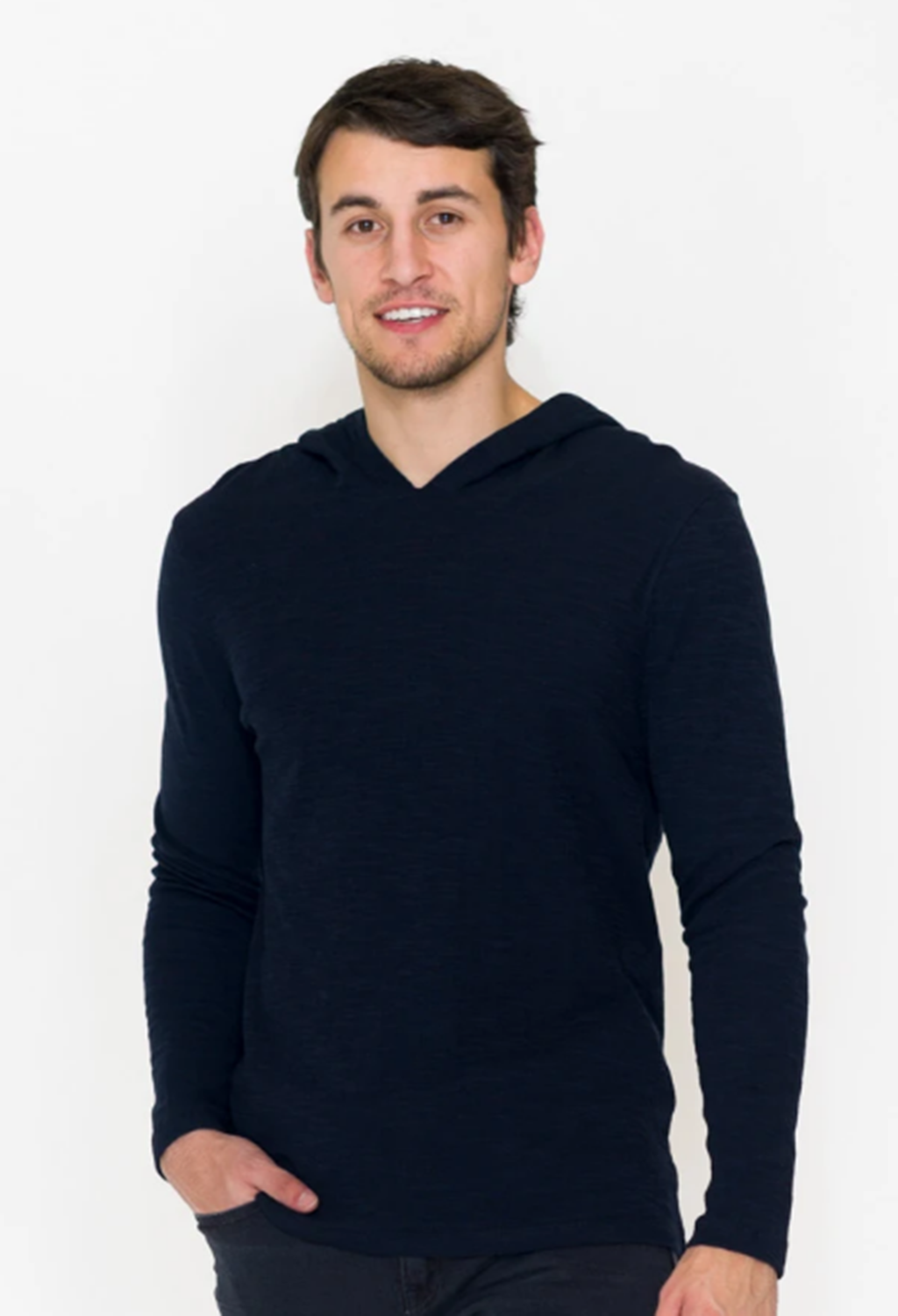 Long Sleeve Double Knit Pullover Hoodie