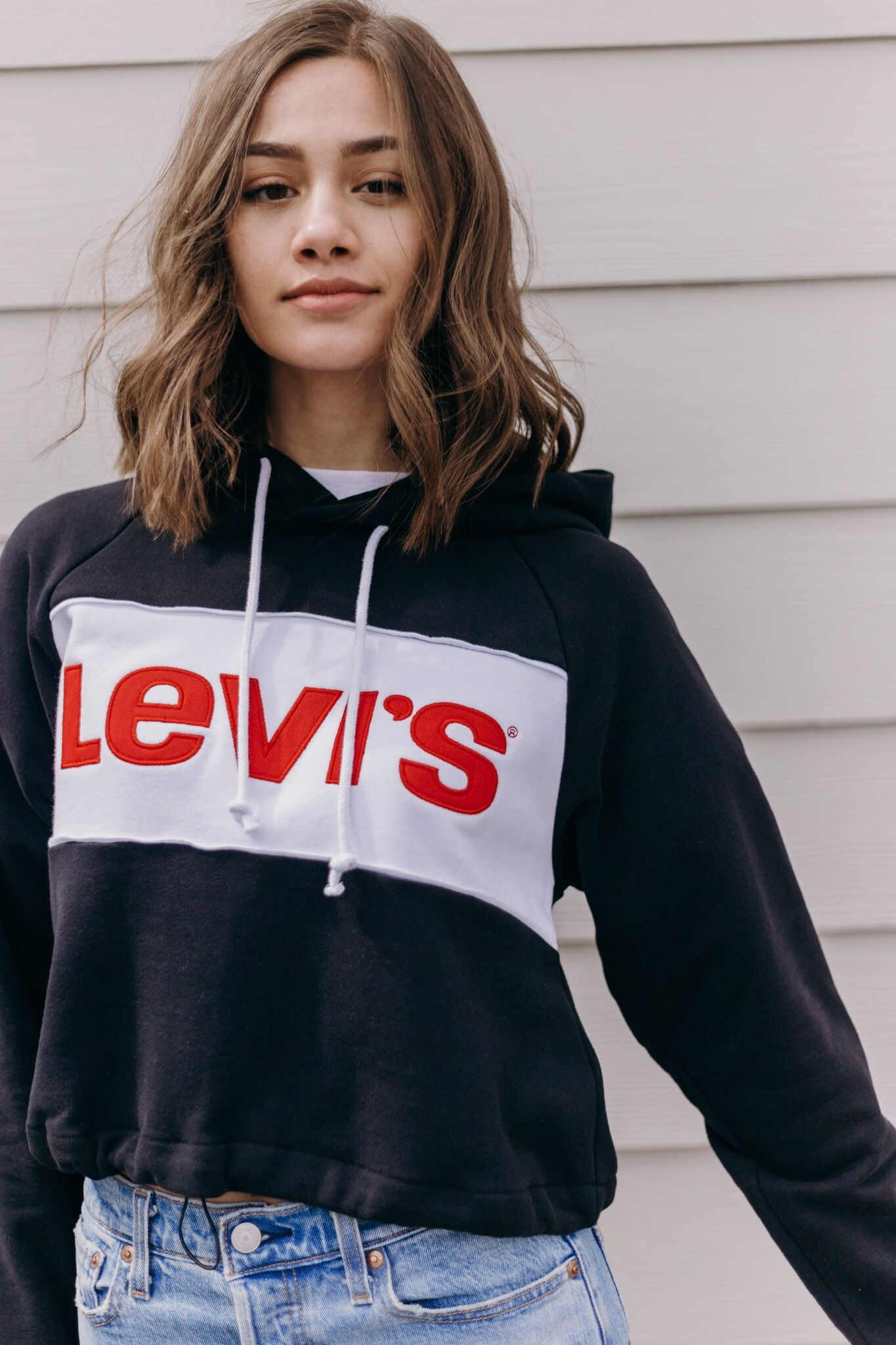 Levi's Colorblock Hoodie Cinch Waist - RUST & Co.
