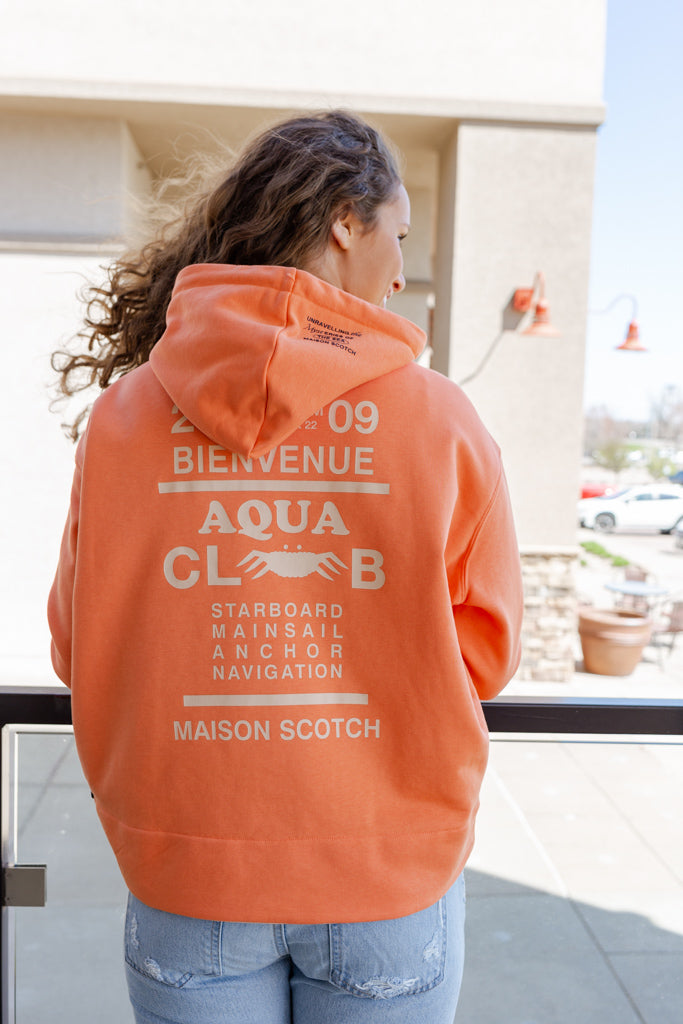 Scotch & Soda Aqua Club Graphic Hoodie