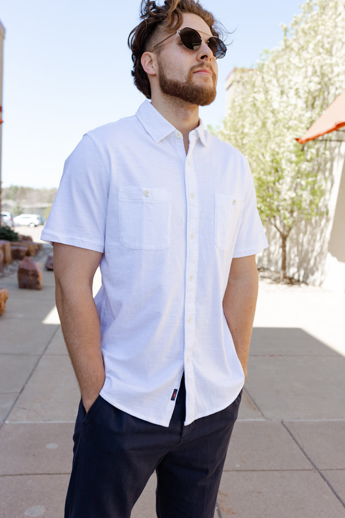 Faherty Knit Seasons Short Sleeve Shirt