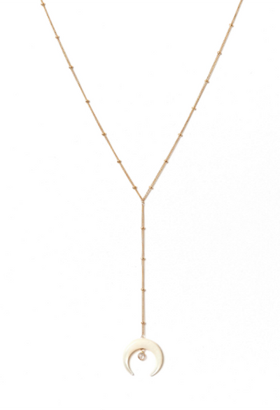 Moonstone Y Necklace - RUST & Co.