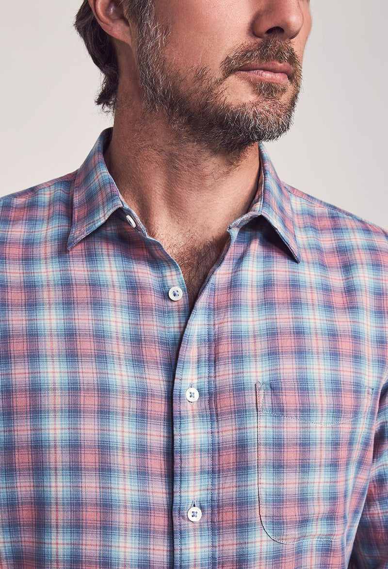 Faherty Everyday Shirt Summerland Plaid - RUST & Co.