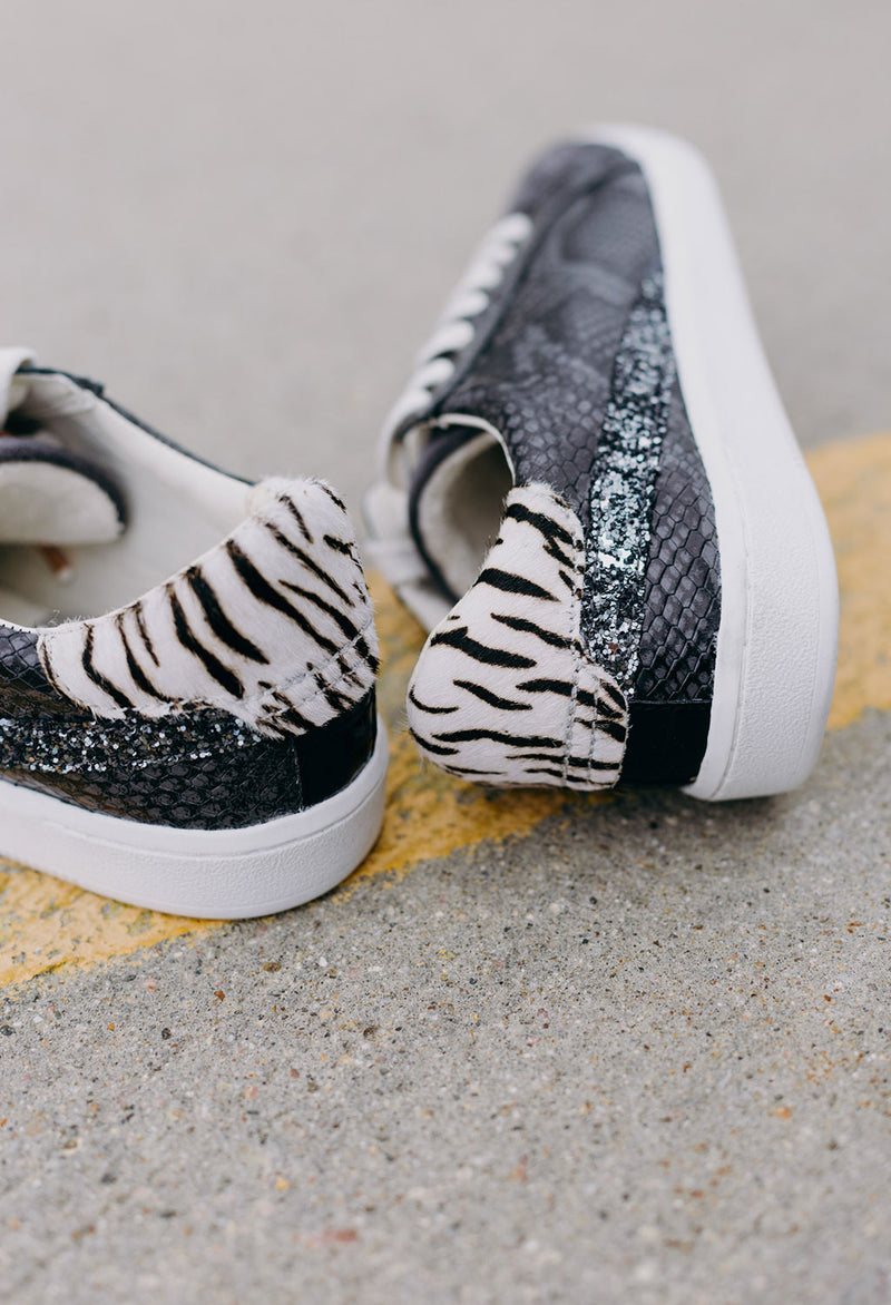 Dolce Vita Nino Snake Skin Sneaker, Anthrocite - RUST & Co.