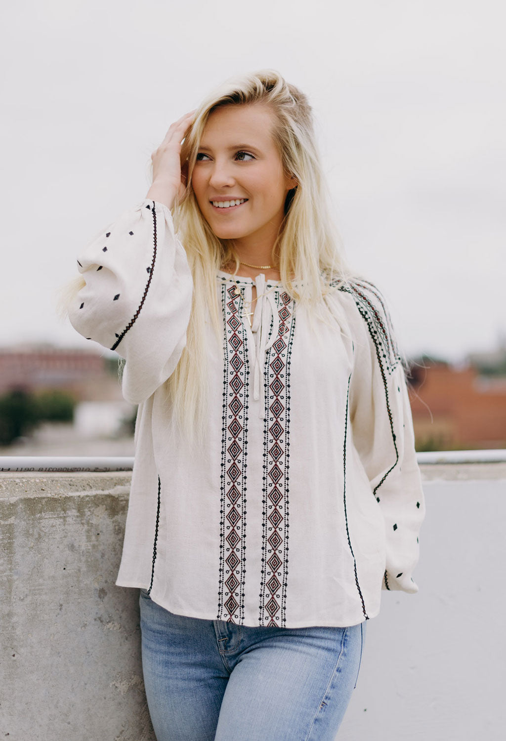 Erin Embroidered Top