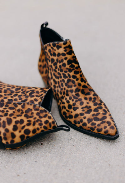 Marc Fisher Leopard Bootie - RUST & Co.