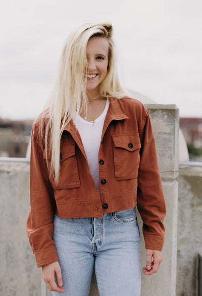Carren Cropped Utility Jacket - RUST & Co.