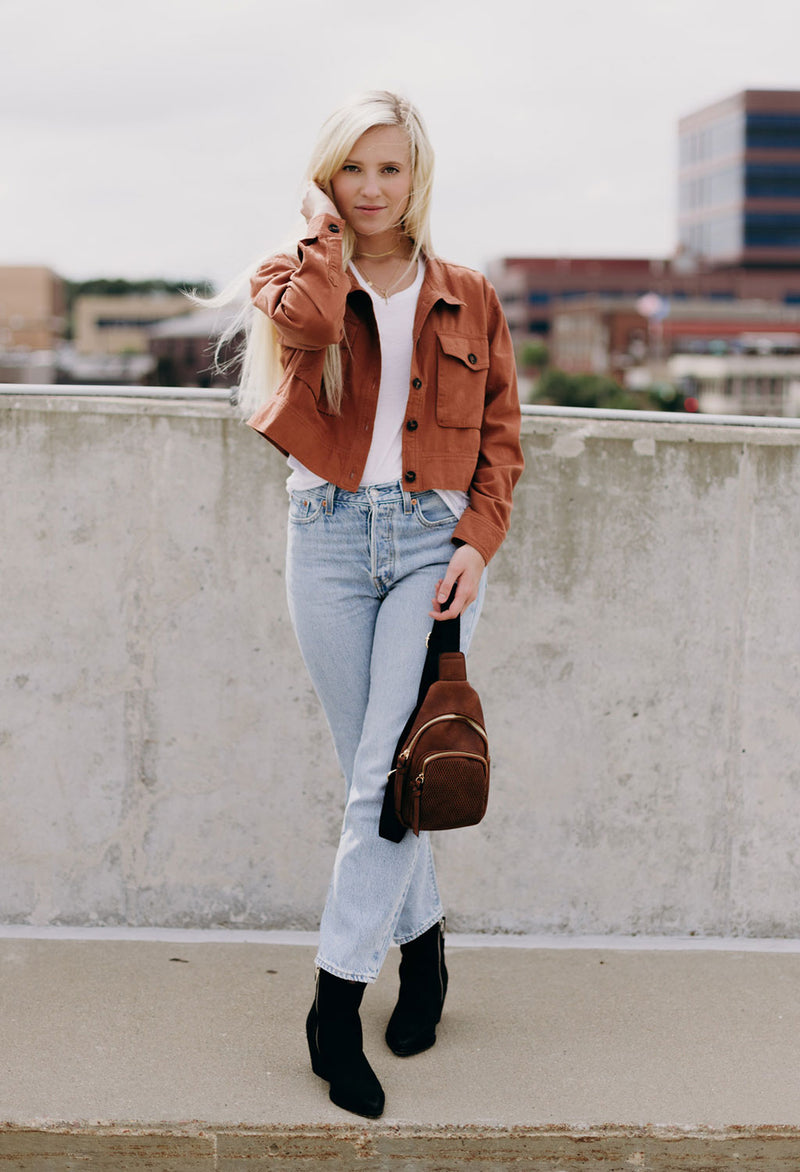 Carren Cropped Utility Jacket