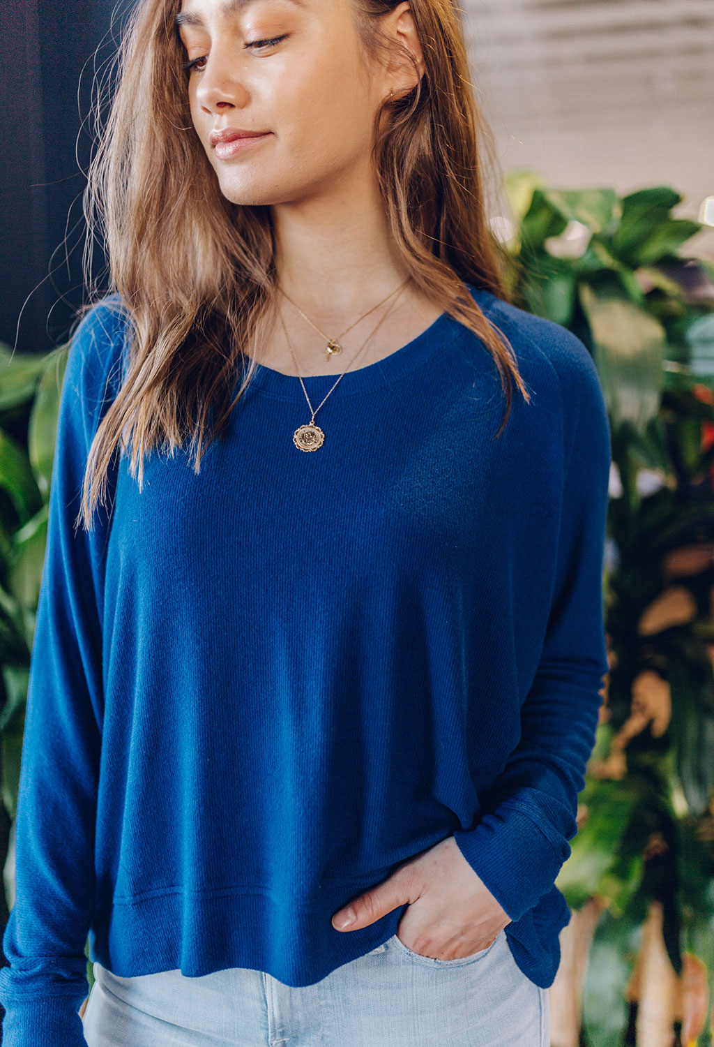 Melinda Cobalt Blue Dolman Top - RUST & Co.