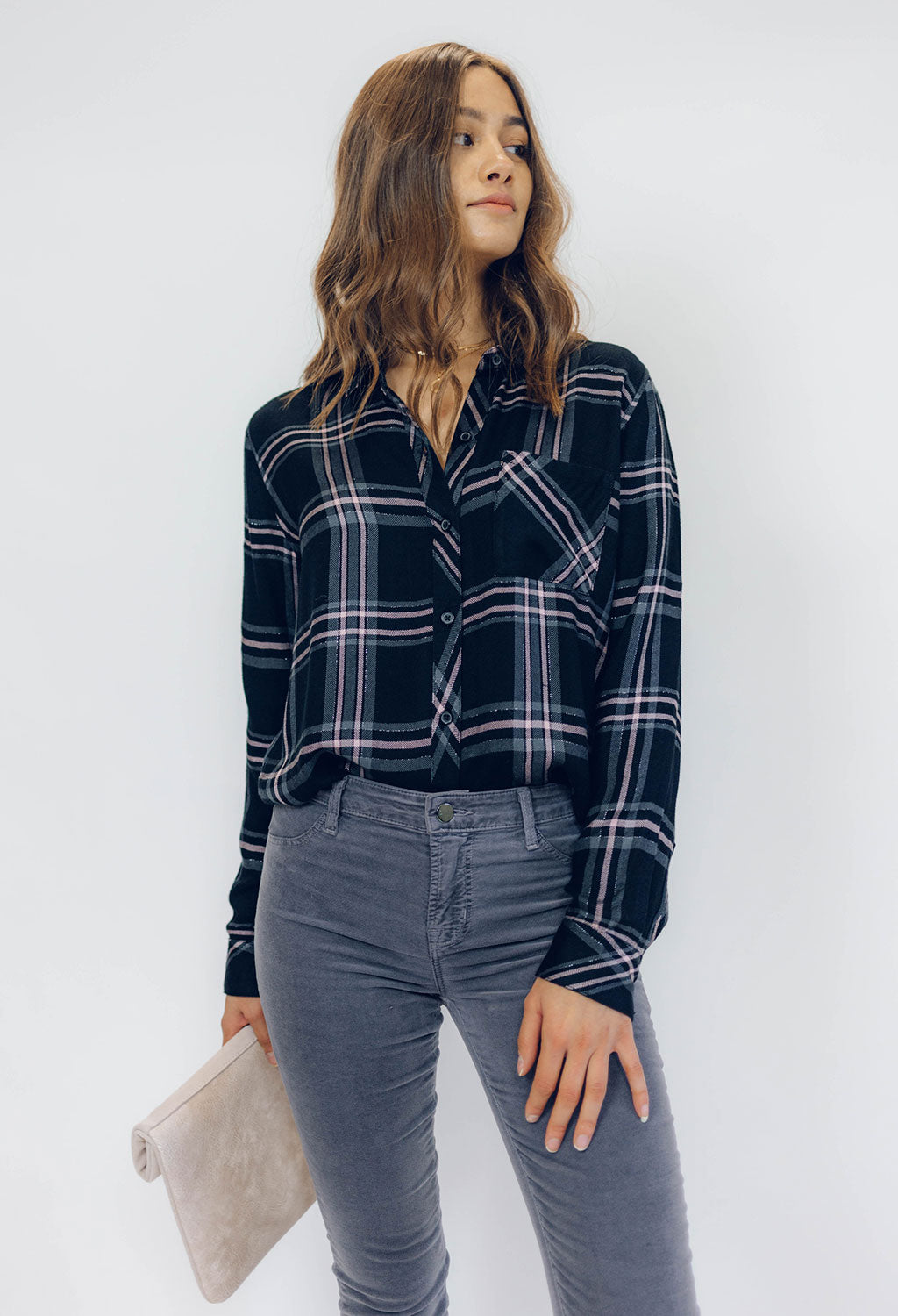 Rails Hunter Onyx Slate Plaid