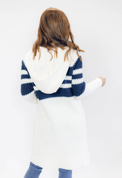 Chaser Think Knit Hooded Duster Cardigan Sweater - RUST & Co.