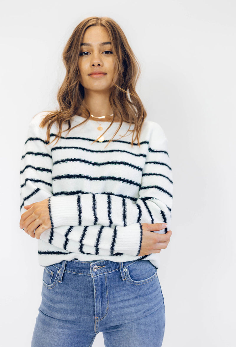 Pete Striped Crew Sweater