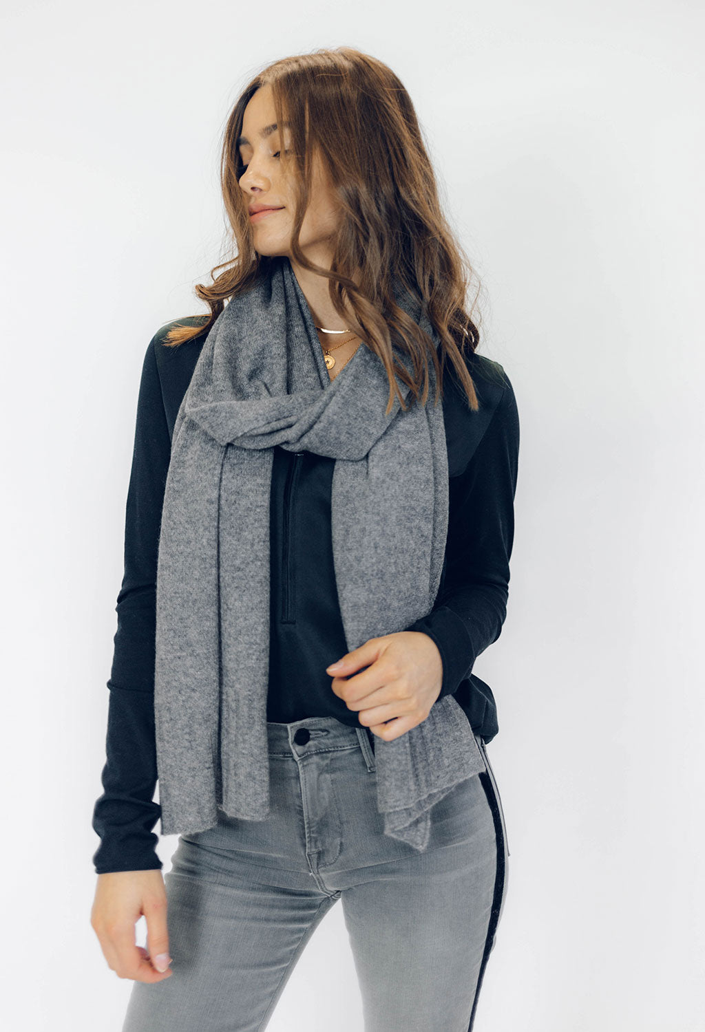 Cashmere Scarf, Grey - RUST & Co.