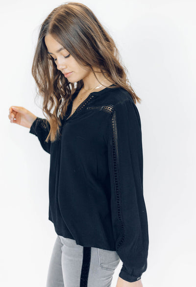 Nelly Lace Trim Blouse