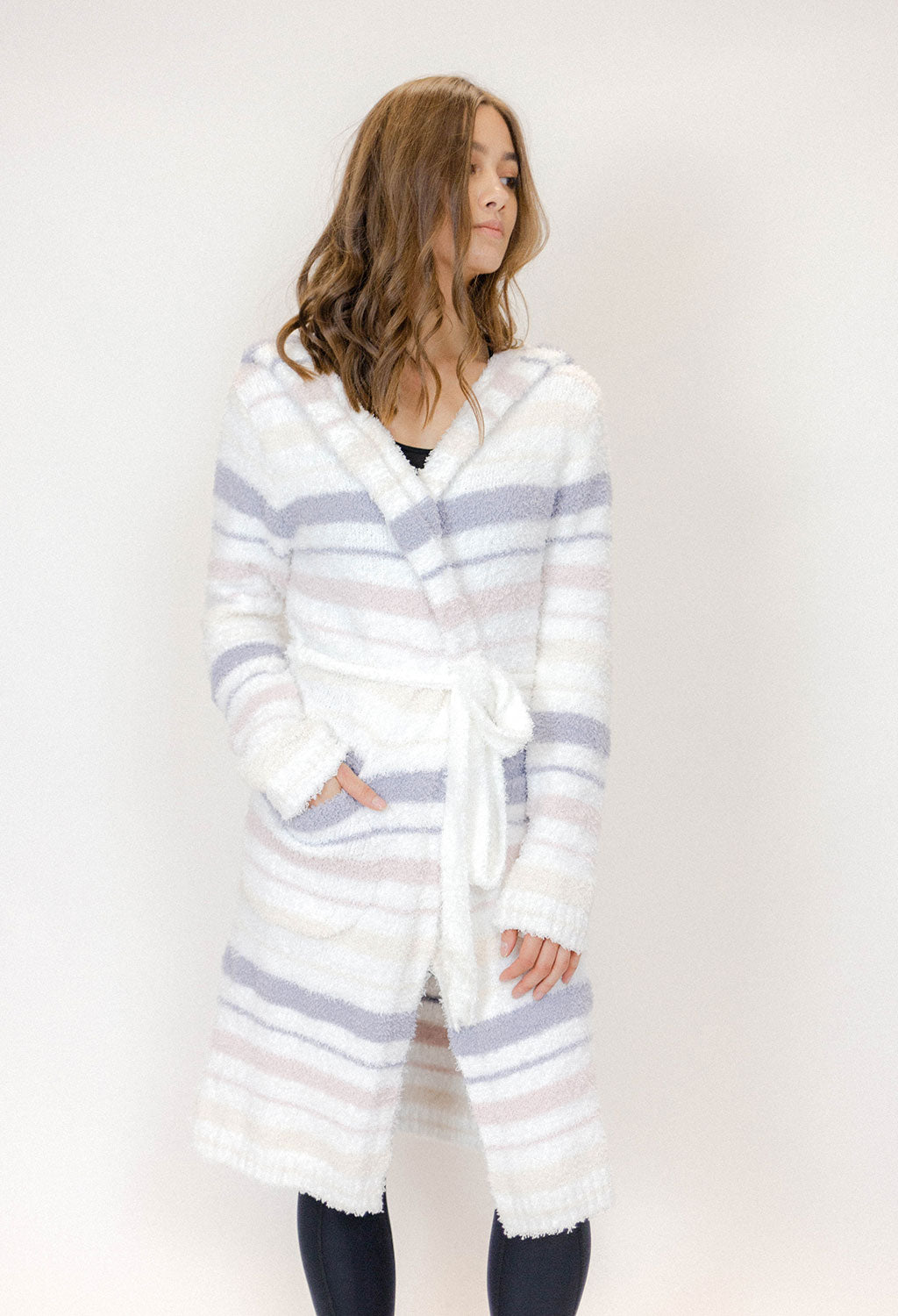 Berber Fleece Cozy Stripe Robe - RUST & Co.