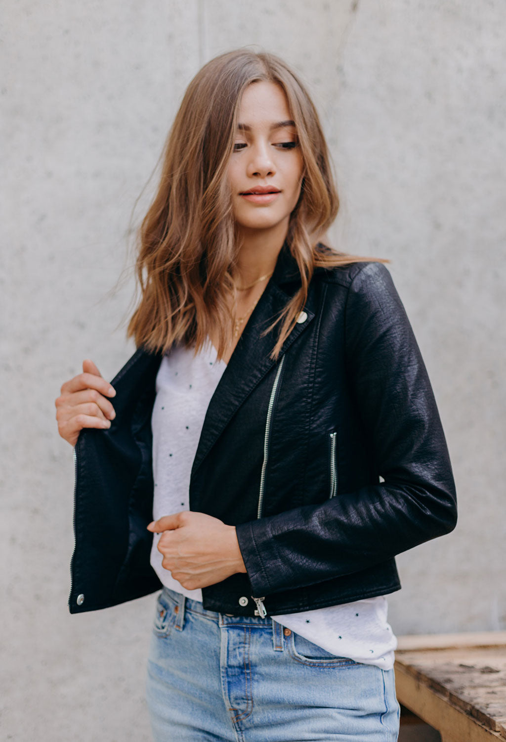 Cupcakes & Cashmere Ines Moto Jacket
