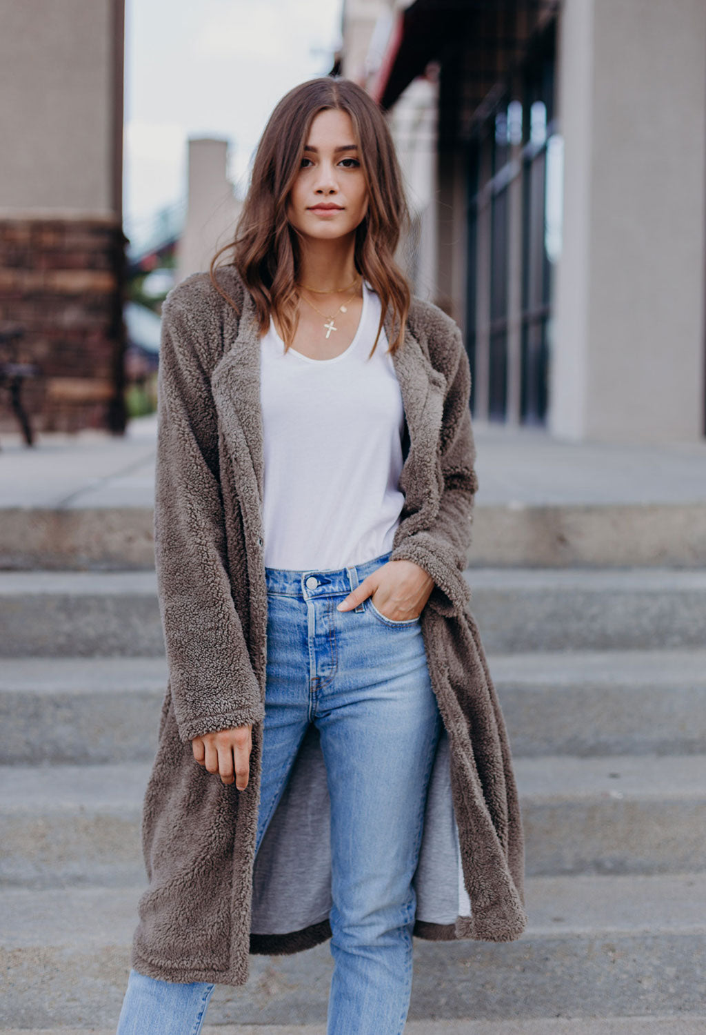Teddy Duster Jacket