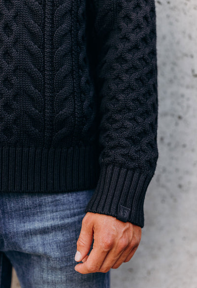 Rag & Bone Aran Crew Neck Cable Knit Sweater