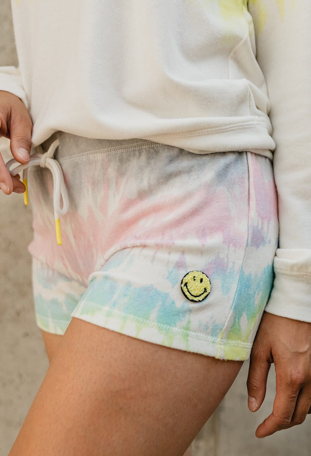 PJ Salvage Tie-dye Smiley Shorts