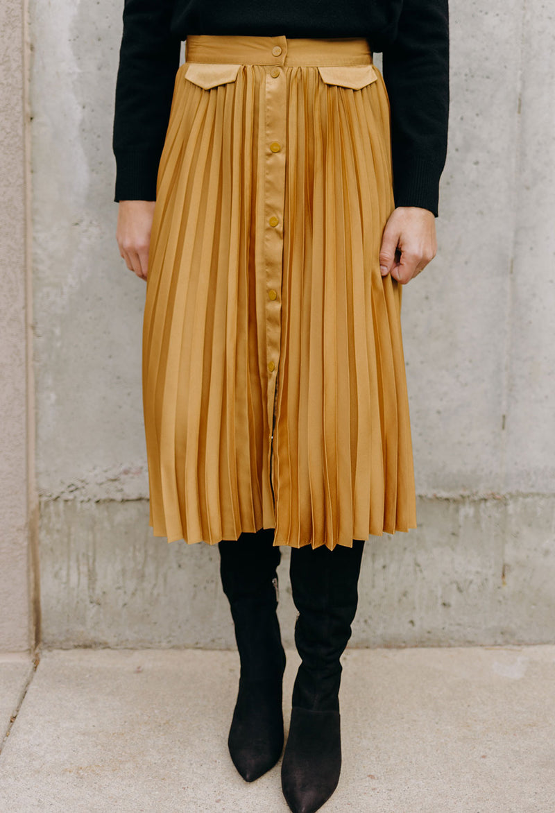 Scotch & Soda Pleated Midi Skirt